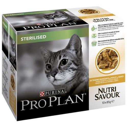 Purina Pro Plan gatto Sterilizzato con Pollo in Salsa 10 x 85 Gr.