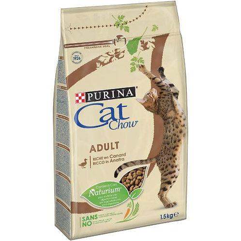 CAT CHOW Adult Gatto Crocchette ricco di Anatra 1,5 Kg