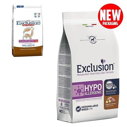 Exclusion - Diet Hypoallergenic Medium/Large Breed Coniglio e Patate