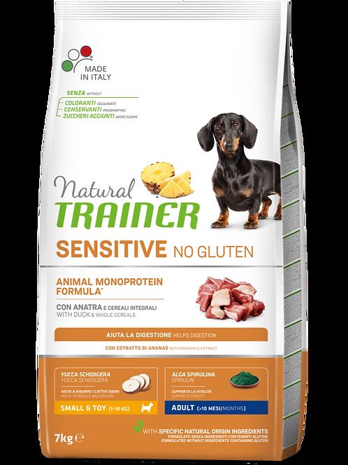 Natural Trainer Sensitive No Gluten Monoproteico Mini Adult con Anatra 7 Kg.
