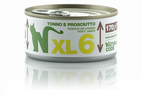 Natural Code Gatto Adult XL6 Tonno e Prosciutto 170 Gr.