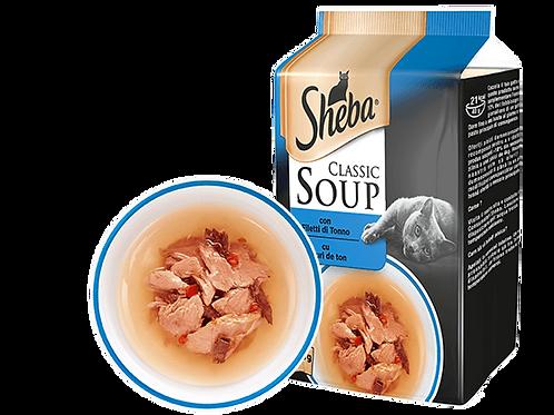 Sheba Classic Soup Zuppa con Filetti di Tonno 4 x 40 Gr.