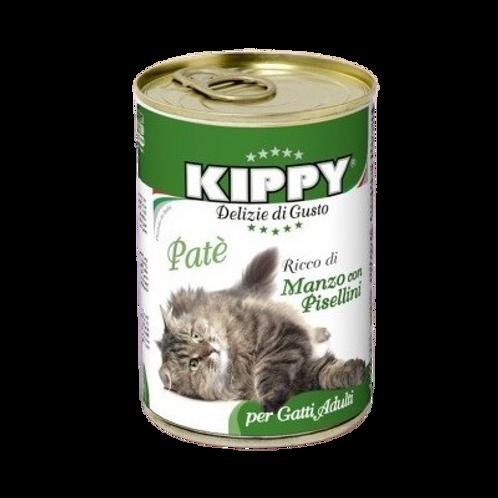Kippy Gatto Adult Patè con Manzo e pisellini 400 Gr.