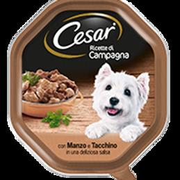 Cesar Ricette di Campagna con Manzo e Tacchino in una deliziosa salsa 150 Gr.