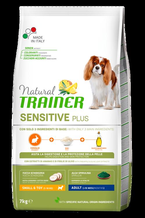 Natural Trainer Sensitive Plus Small&Toy Adult con Coniglio,riso,olio 7 Kg.