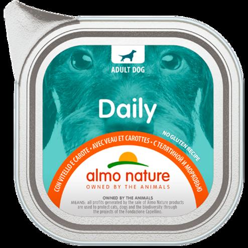 Almo Nature cane DailyMenu con Vitello e Carote 100/300 Gr.