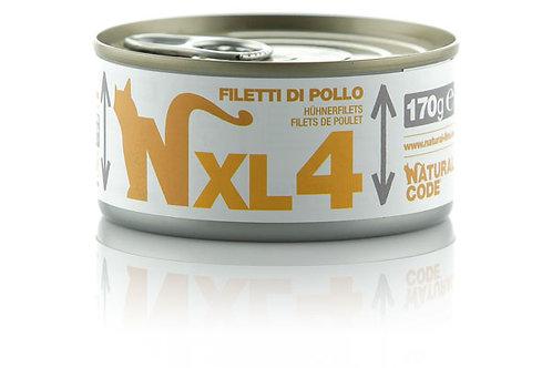 Natural Code Gatto Adult XL4 Filetti di Pollo 170 Gr.