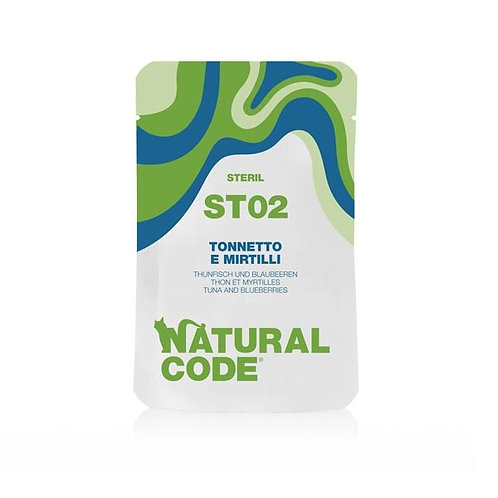Natural Code -ST02 Steril Tonnetto e Mirtilli 70 Gr.