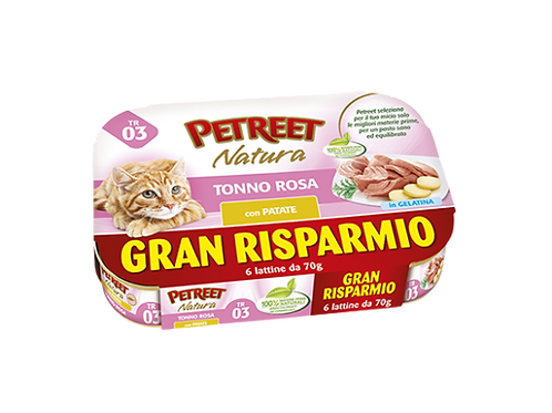 Petreet Natura Tonno Rosa con Patate Multipack 6 Lattine x 70 gr