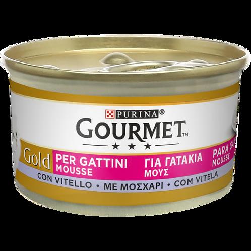 GOURMET Gold Gatto Mousse per Gattini con Vitello 85 Gr.