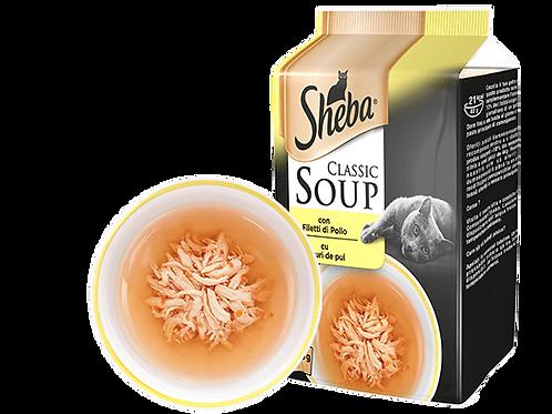 Sheba Classic Soup Zuppa con Filetti di Pollo 4 x 40 Gr.