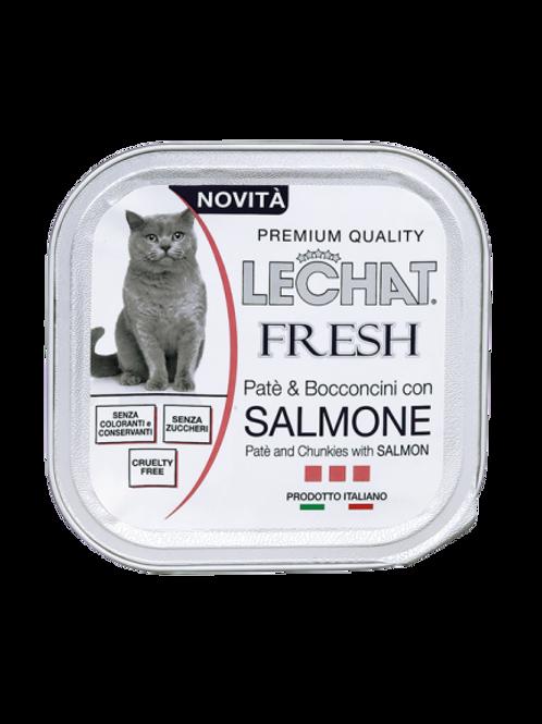 LeChat Fresh Patè & Bocconcini con Salmone 100 Gr.