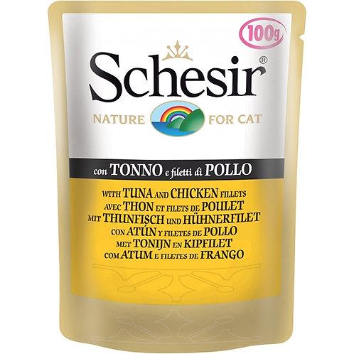 Schesir - Tonnetto e Filetti di Pollo in Gelatina 100 Gr.