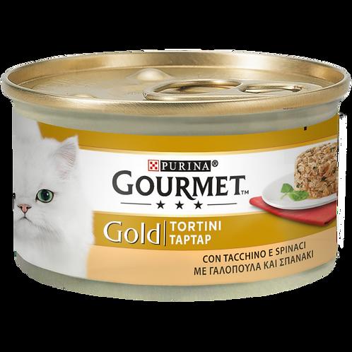 GOURMET Gold Tortini Gatto con Tacchino e Spinaci 85 Gr.