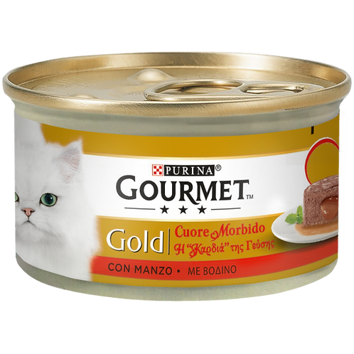 GOURMET Gold Cuore Morbido con Manzo 85 Gr.