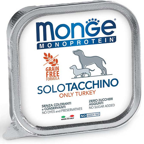 Monge Pate' Monoproteico SOLO Tacchino 150 Gr.