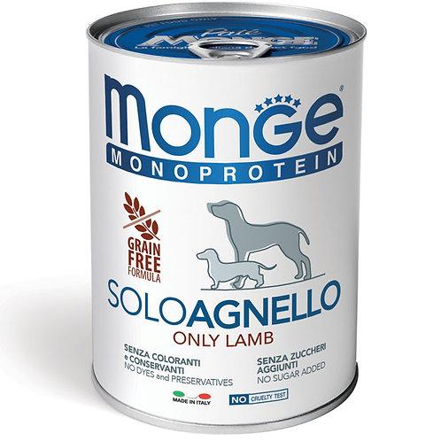Monge Pate' Monoproteico SOLO Agnello 400 Gr.