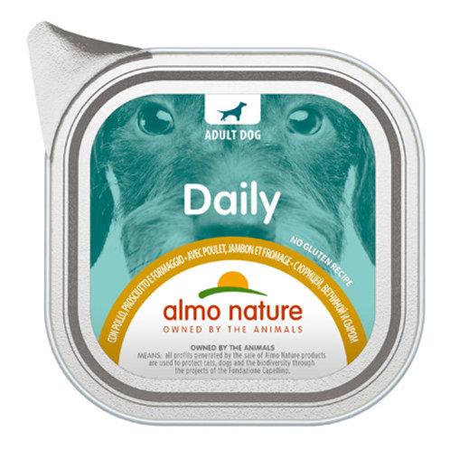 Almo Nature cane DailyMenu con Pollo, Prosciutto e Formaggio 100/300 Gr.