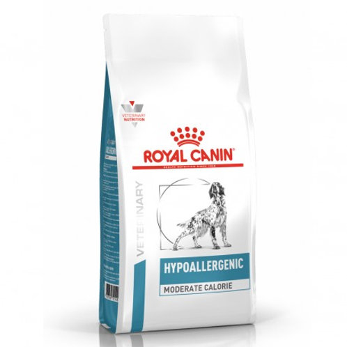 Royal Canin Cane Veterinary Hypoallergenic Moderate Calorie 1.5 Kg.