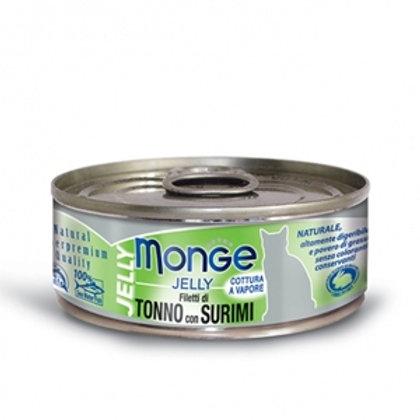 Monge - Natural Superpremium Jelly Filetti di Tonno del Pacifico e Surimi