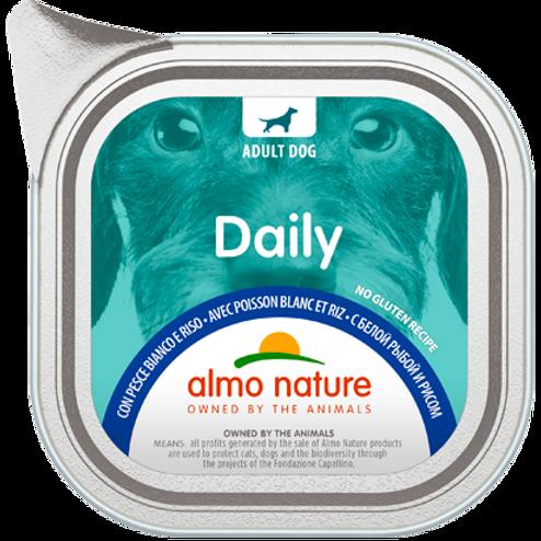 Almo Nature cane DailyMenu con Pesce Bianco e Riso 100/300 Gr.