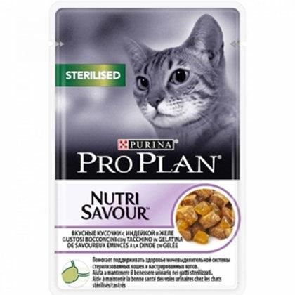 Purina Pro Plan Nutri Savour Sterilised Bocconcini con Tacchino in Gelatina 85 G
