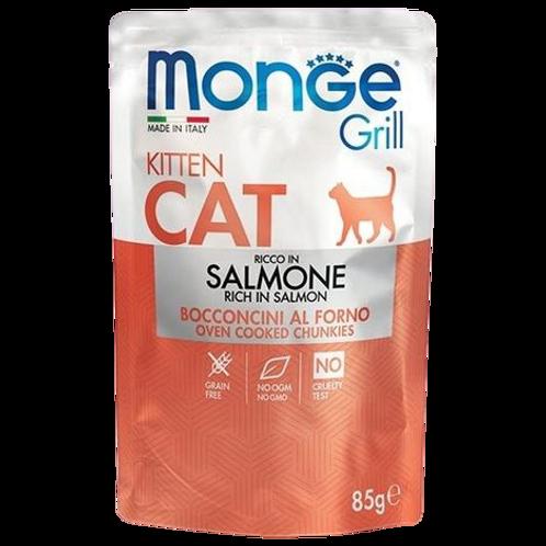 Monge Grill Cat Kitten Bocconcini in Jelly Salmone da 85 Gr