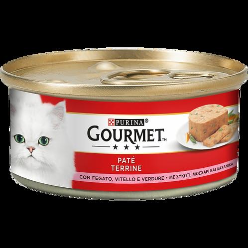 GOURMET Rosso Gatto Paté con Fegato, Vitello e Verdure 195 Gr.