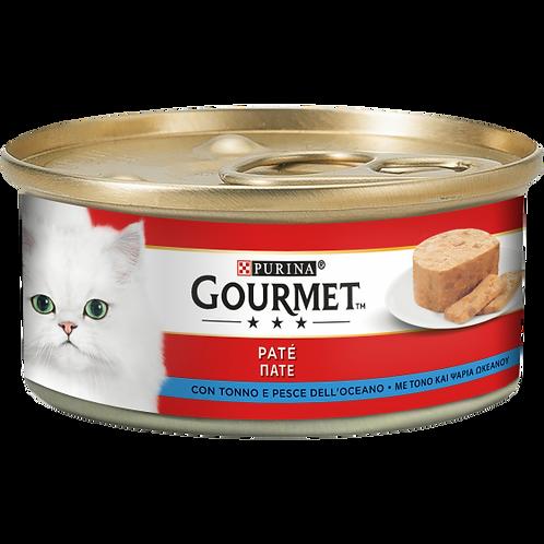 GOURMET Rosso Gatto Paté con Tonno e Pesce dell'Oceano 195 Gr.