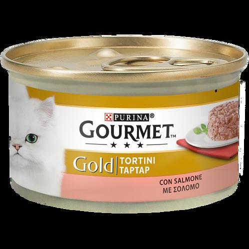 GOURMET Gold Tortini Gatto con Salmone 85 Gr.