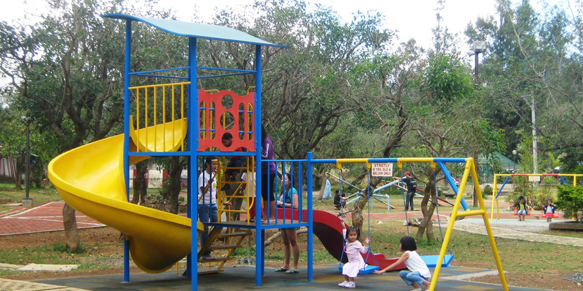 Play Equipment #5  -Spiral Wave -Small Wave Slide - Swing - Roofing & Floor - Panel - Stair with Steel Railing   Lot Area: L-5 x W-5.5 Meter Suitable for age 7 to 12 yrs old