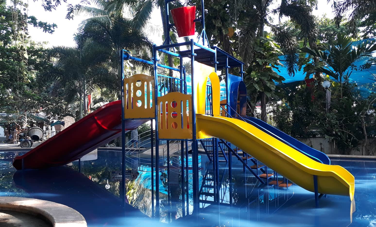 Water Slildes (Spongebob)  - Double Slide - Long Slide - Water Bucket - Panel and Flooring - Steel Framing