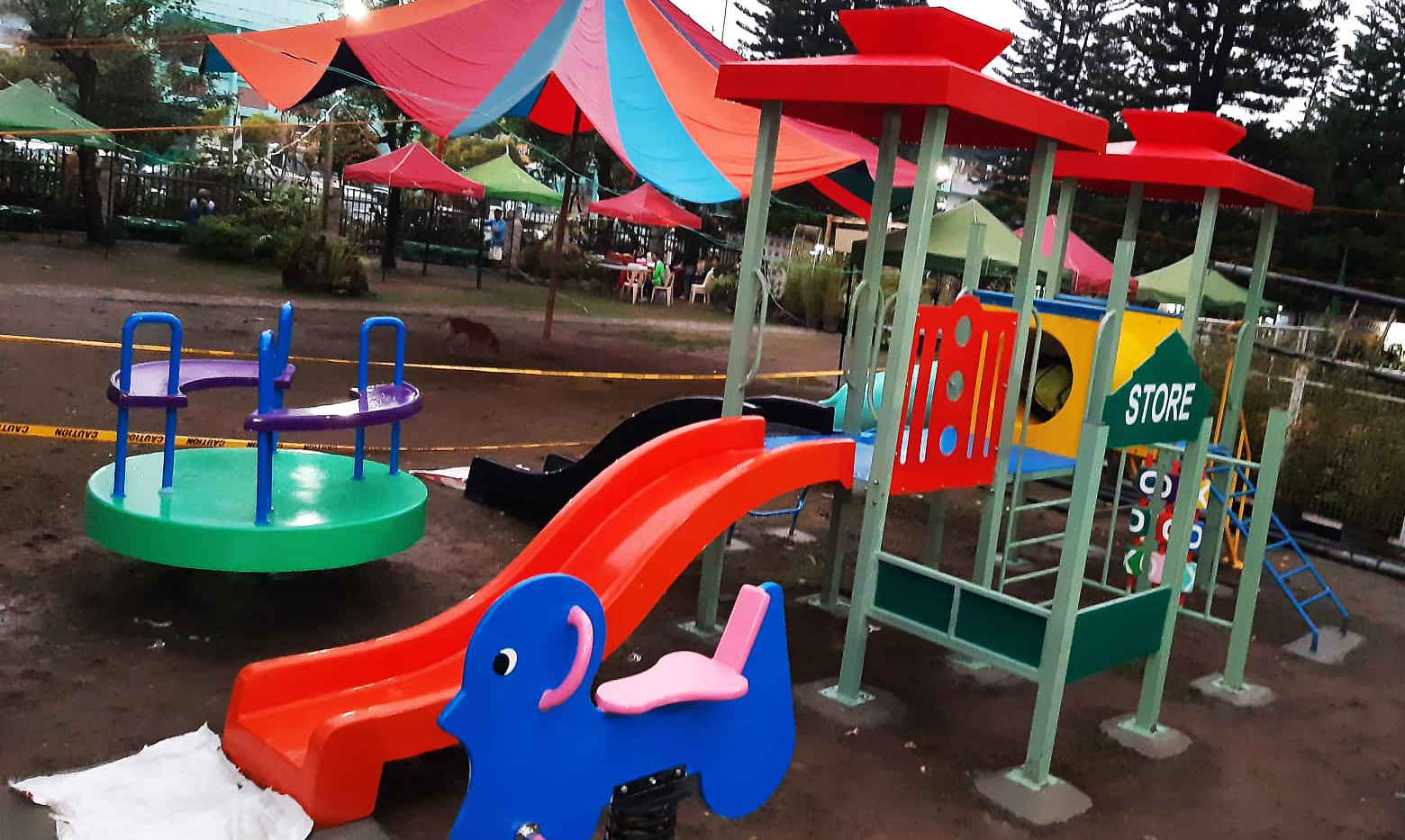 Play Equipment #11  - Tube Slide - Small Wave Slide - Crawl Tube - Roofing - Tic - Tac - Toe - Stair - Panel Design - Stair with steel railing - Rib Ladder  Lot Area: L-6.5 x W-5 Meter Suitable for age 3 to 7 yrs old