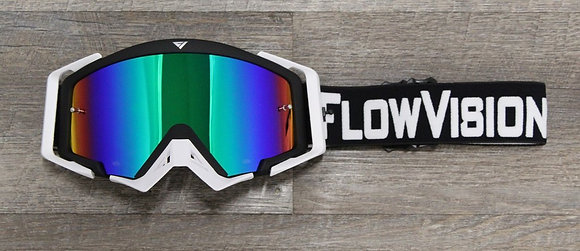 Flow Vision Rythem™ Motocross Goggle: Black/White