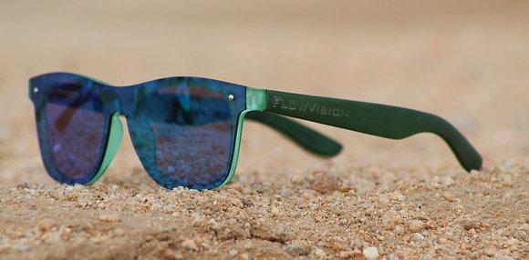 Flow Vision Rythem™ Sunglasses: Green