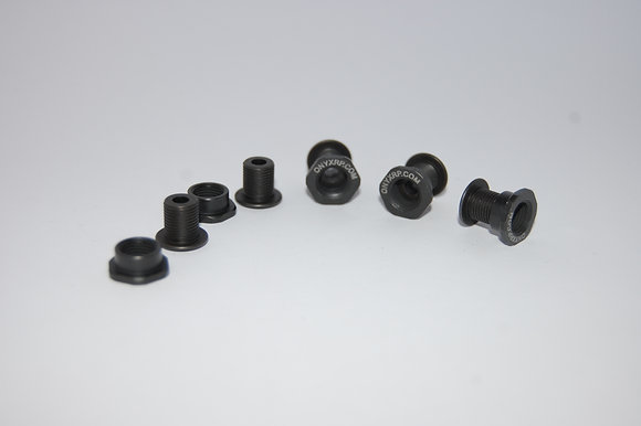 Onyx Chain Ring steel bolts