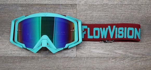 Flow Vision Rythem™ Motocross Goggle: Crimson/Teal