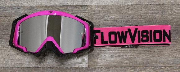 Flow Vision Rythem™ Motocross Goggle: Pink/Black