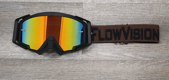 Flow Vision Rythem™ Motocross Goggle: Brown/Black