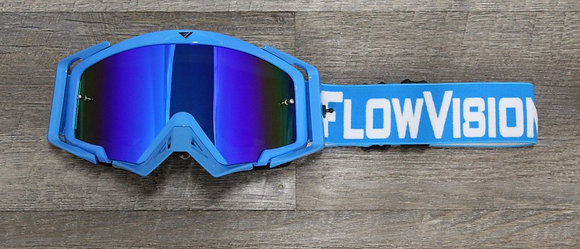 Flow Vision Rythem™ Motocross Goggle: Blue/White