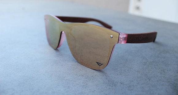 Flow Vision Rythem™ Sunglasses: Pink RoseGold