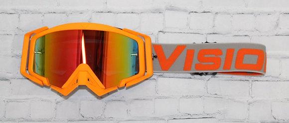 Flow Vision Rythem™ Motocross Goggle: Orange/Grey