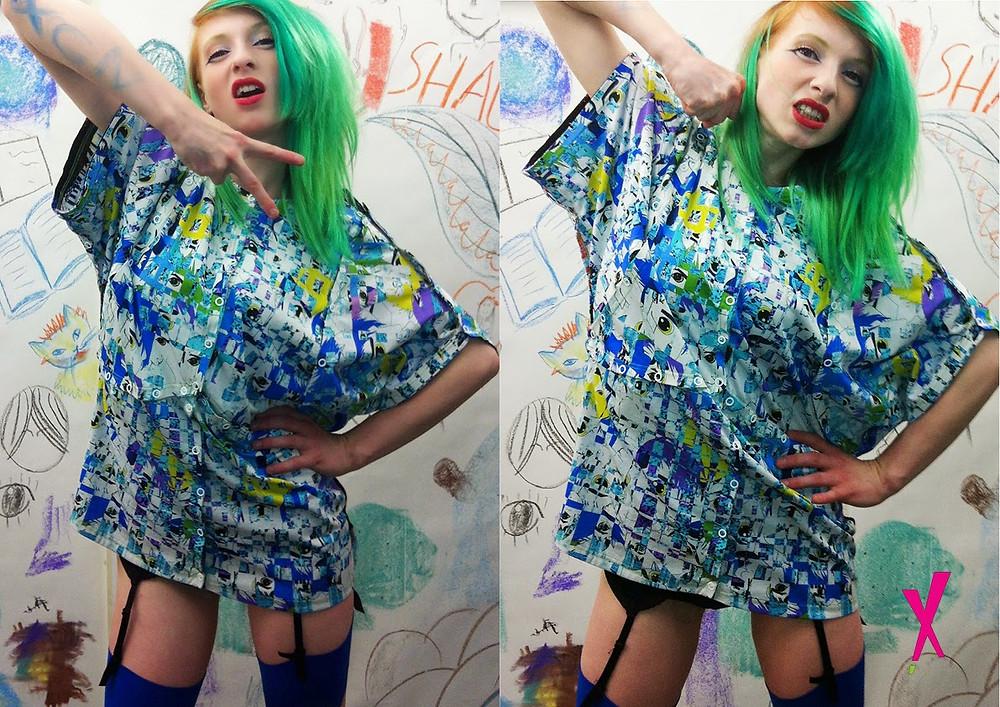 Jessamine wearing X Claim Nation @ Leeds College of Art in 2013
