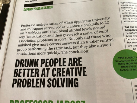 New from HBR... now I am going to get  a drink