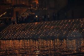 Ghats lit up on Dev Deepavali