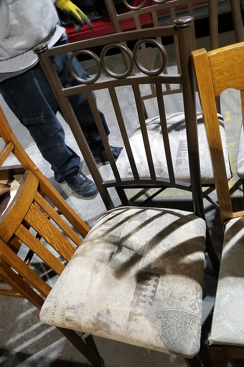4 decorative rod iron dining room chairs