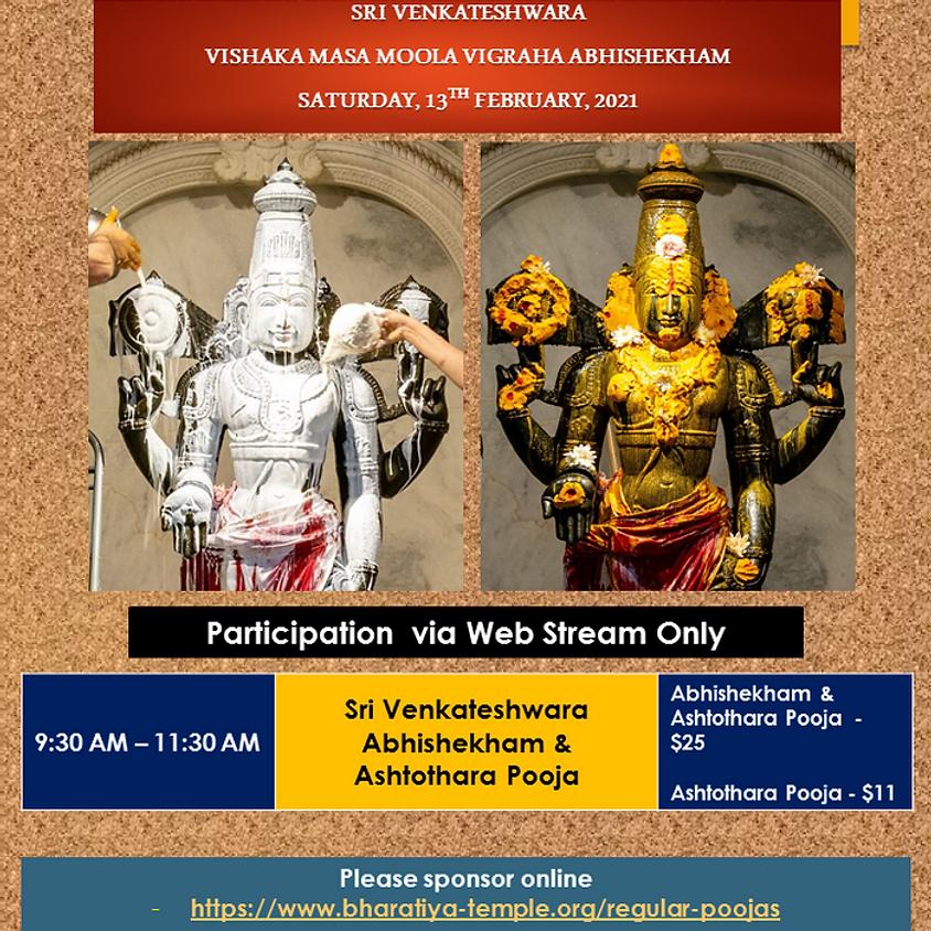 Sri Venkateshwara Abhishekham &  Ashtothara pooja