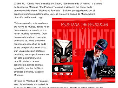 """Montana """"The Producer"""" revela el video de """"Noches De Fantasia"""" de Jory"""