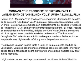 """Montana """"The Producer"""" se prepara para el lanzamiento de """"Los Illusión Vol.1"""" ju"""