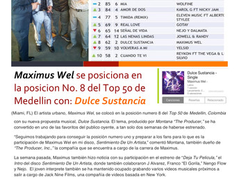 Maximus Wel se posiciona No. 8 dentro del Top 50 de Medellin